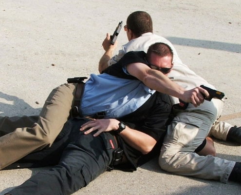 Hostile Close Protection officers